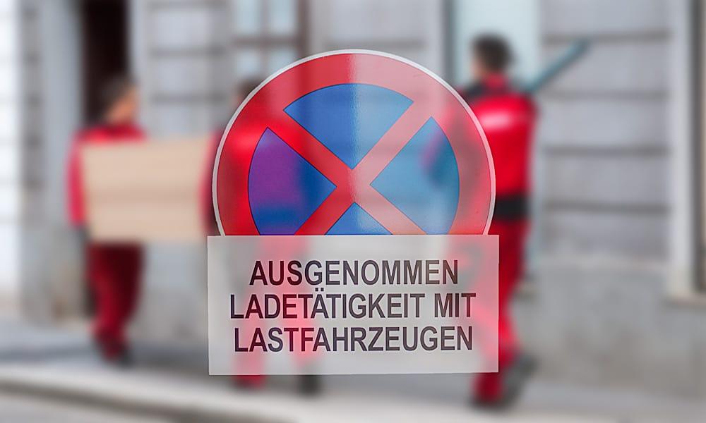 Halteverbot fue den Umzug in Wien